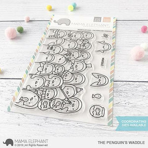 Mama Elephant - The Penguin's Waddle Stamps