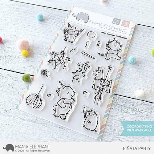 Mama Elephant - Piñata Party Stamps