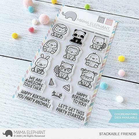 Mama Elephant - Stackable Friends Stamps
