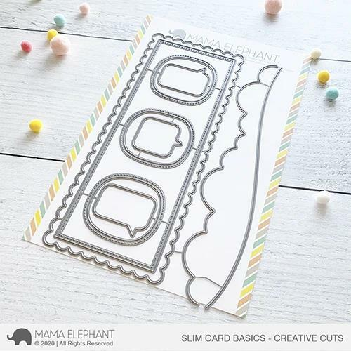 Mama Elephant - Slim Card Basics Dies