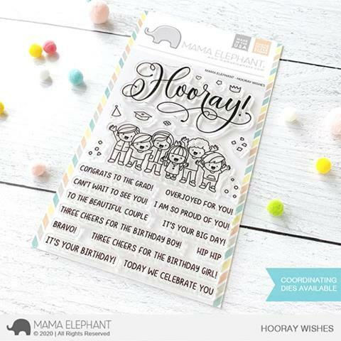 Mama Elephant - Hooray Wishes Stamps