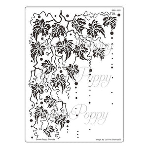 Sweet Poppy - Stencils - Fall Back Plate