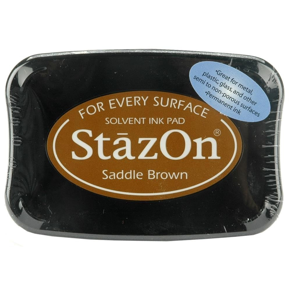 Staz-On - Solvent Ink - Saddle Brown