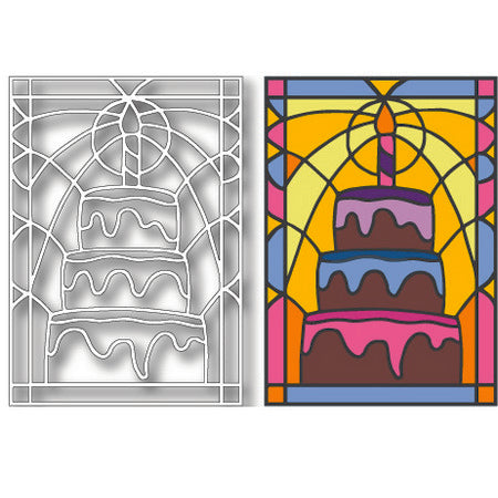 Tutti Designs - Cake Stained Glass