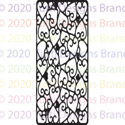 Tutti Designs - Dies - Slimline - Hearts Background