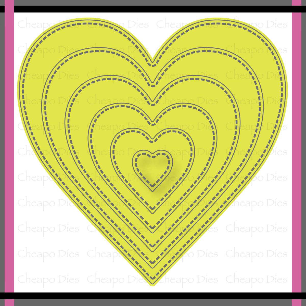 Unbranded Cutting Dies - Stitched Nesting Hearts