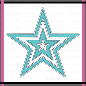 Unbranded Cutting Dies - Stitched Nesting Stars
