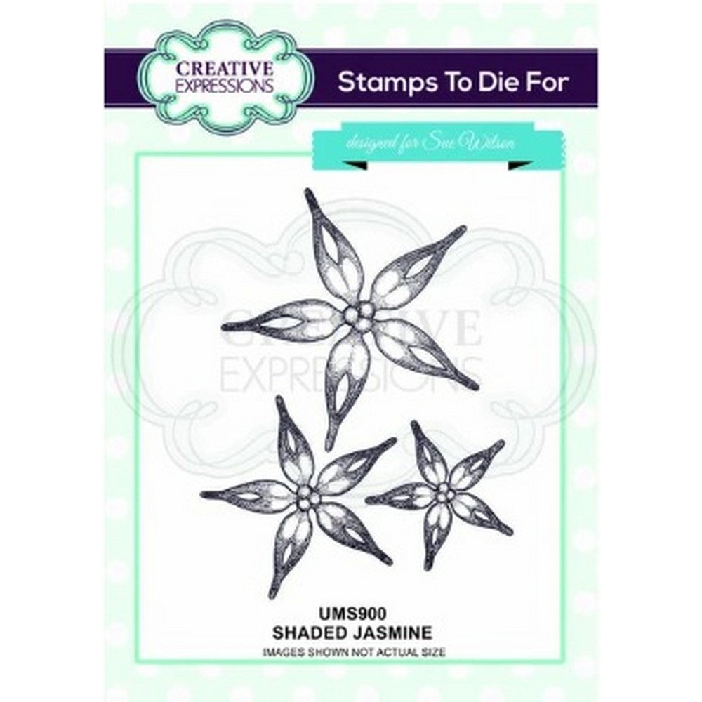 Sue Wilson Designs - Stamps -Shaded Jasmine