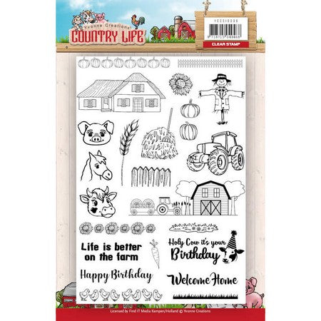 Yvonne Creations - Clear Stamps - Country Life