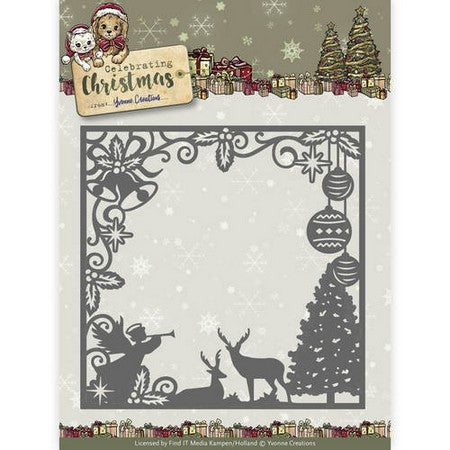 Yvonne Creations - Celebrating Chirstmas - Scene Square Frame