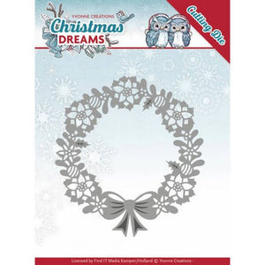 Yvonne Creations - Christmas Deams - Poinsettia Wreath