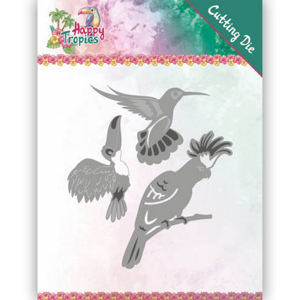 Yvonne Creations - Dies - Happy Tropics - Exotic Birds