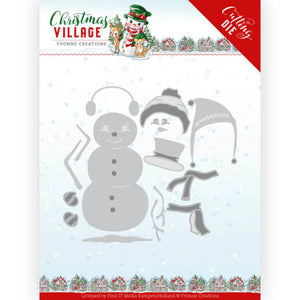 Yvonne Creations - Dies - Christmas Village - Build Up Snowman