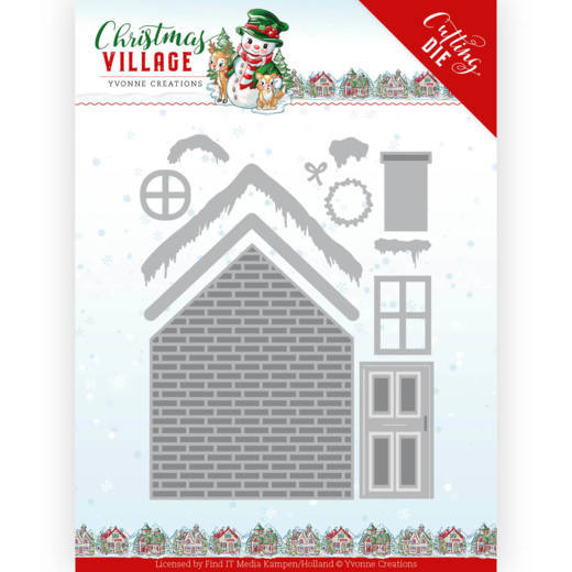 Yvonne Creations - Dies - Christmas Village - Build Up House