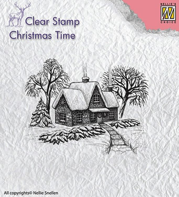 Nellie's Choice - Clear Stamp - Idyllic Winter Scene