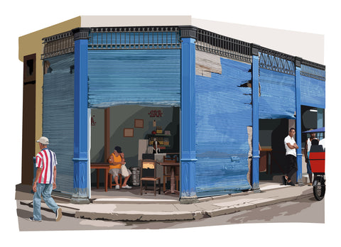 Havana limited edition Giclée art print, Bar on Damas