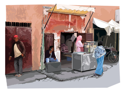 Food stall, Marrakesh