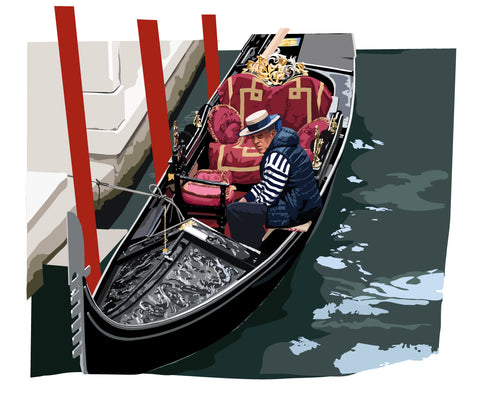 Gondolier at rest, Venice