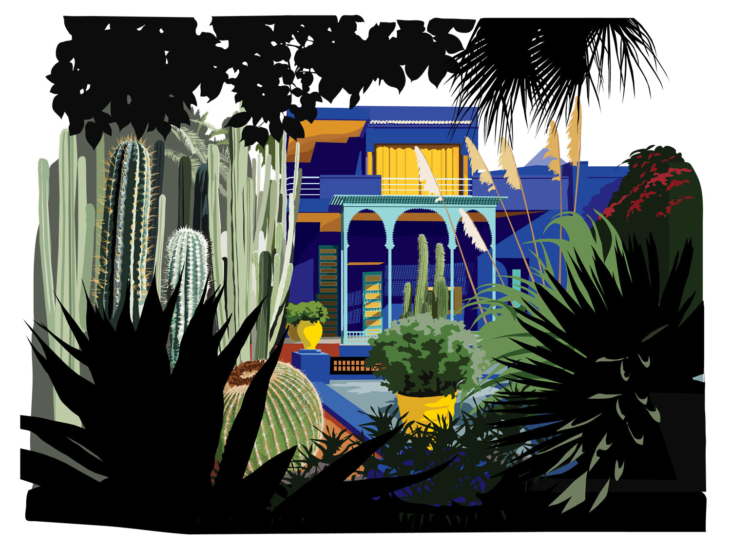 Le Jardin Majorelle, Marrakesh - garden and studio restored by Yves Saint Laurent