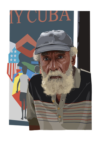 Havana edition Giclée  print 'Portrait of old Man'