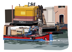 Sea dog, Venice barge