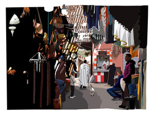 Marrakesh - walking through a Souk
