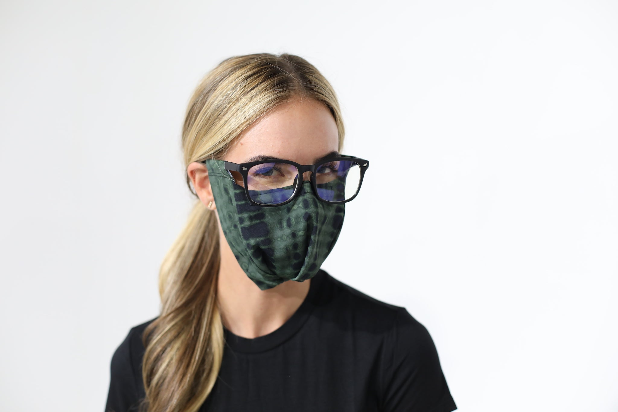 GREEN/BLACK SNAKESKIN SLEEVZ Mask