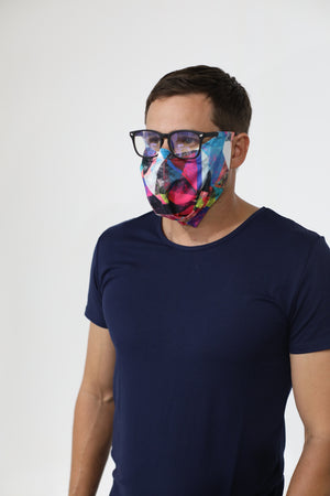 Open image in slideshow, COLORFUL GEOMETRIC SLEEVZ Mask