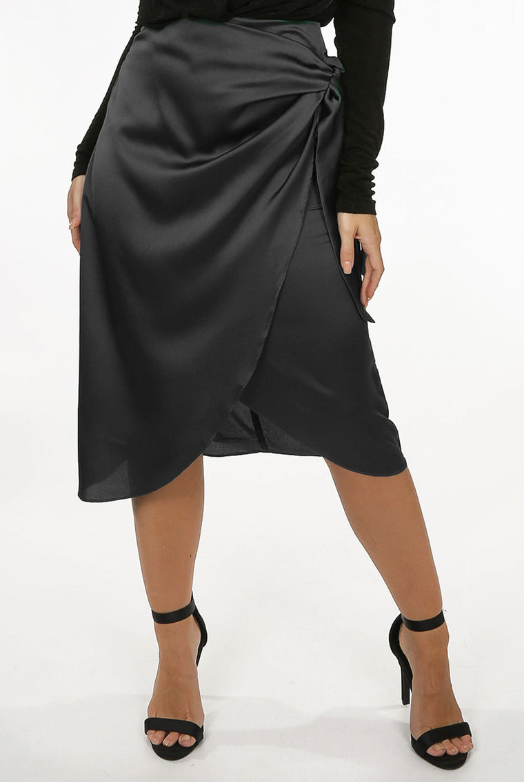 Lavish Wrap Midi Skirt