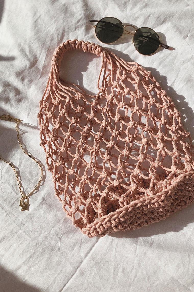 Tulum Netted Bag - Blush