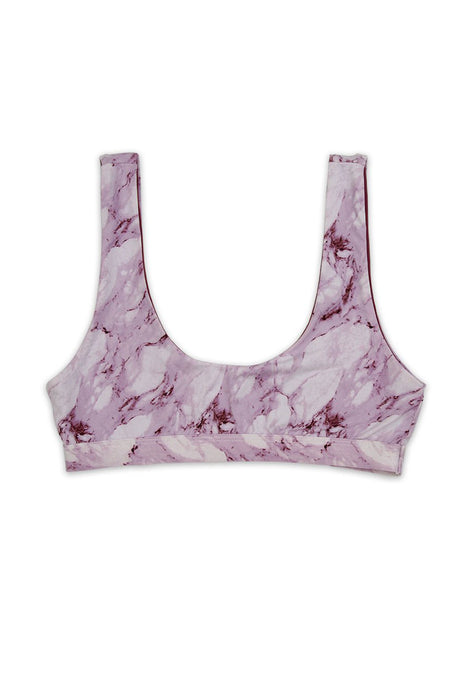Moana Mauve Marble Swim Top