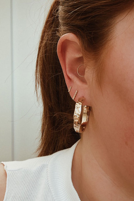 Huxton Bar Studs - Gold