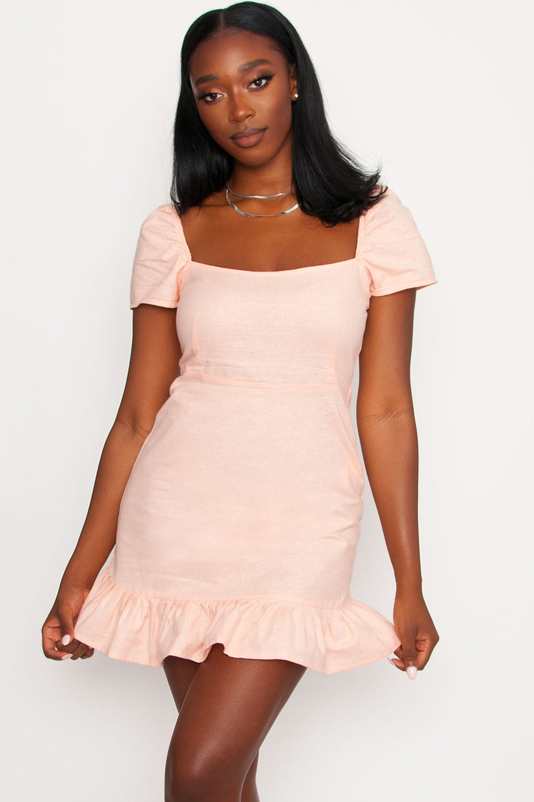 Motel Syami Dress - Peach