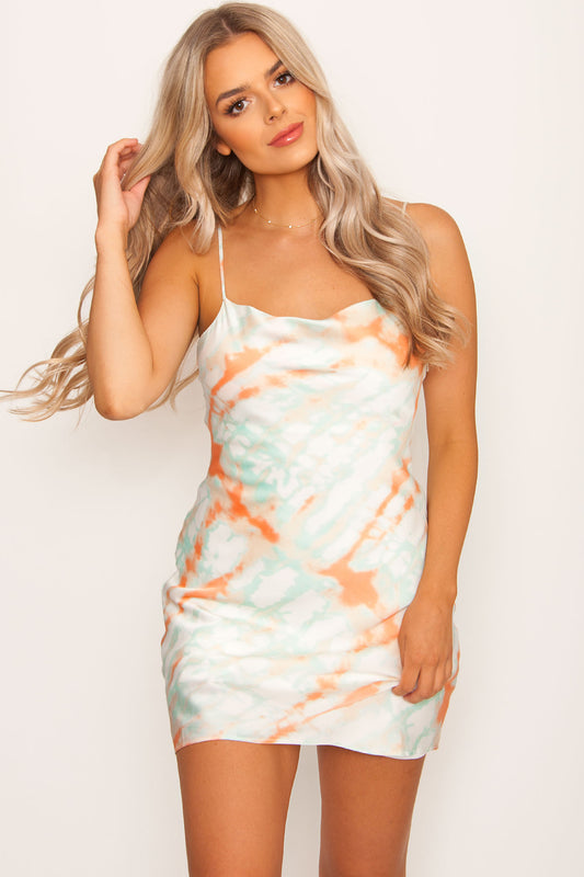 Ariana Tie-Dye Dress - Aqua