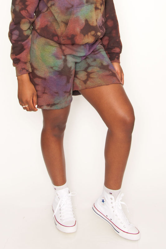 Oil Slick Cut-Off Shorts