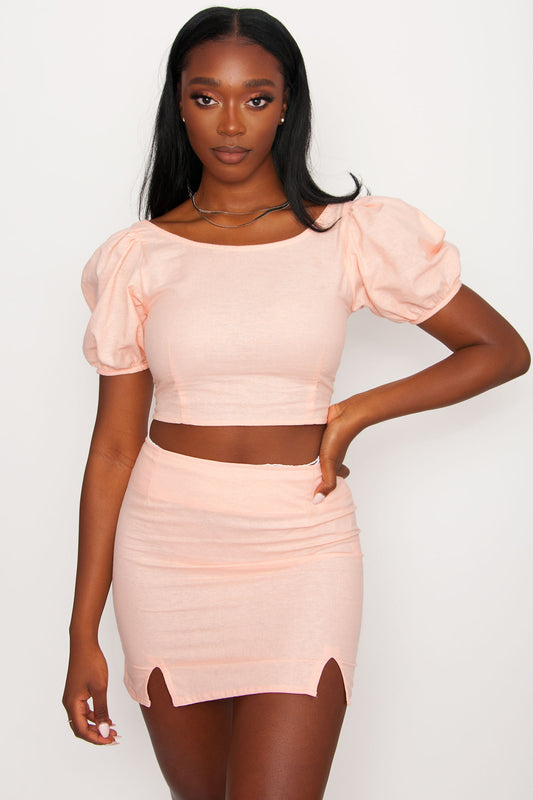 Motel Yonna Top - Peach