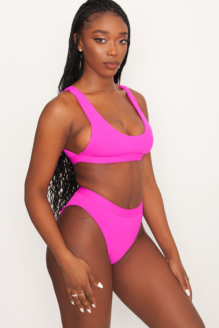 Festival Swim Top - Dragonfruit