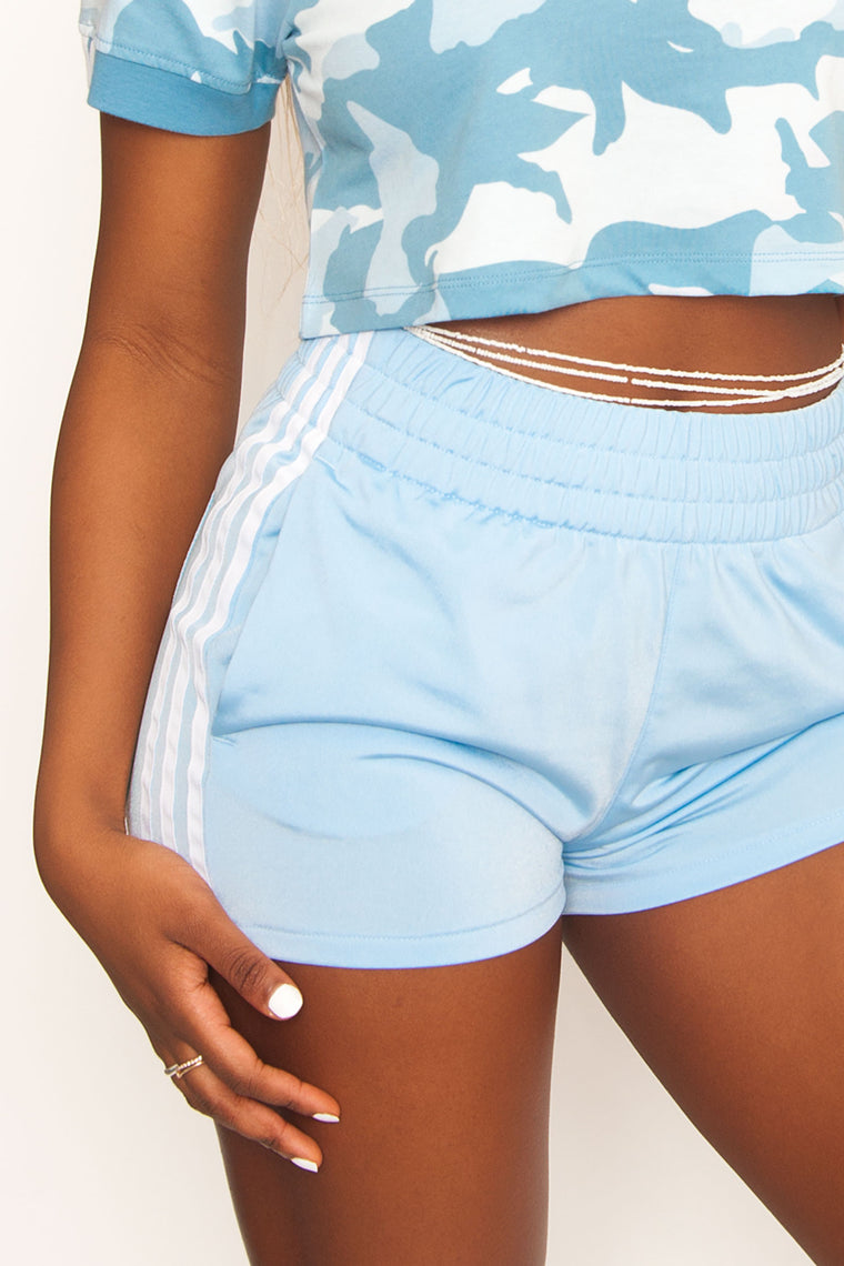 Adidas Originals 3 Stripe Short - Blue/White