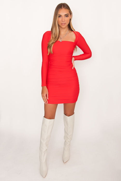 Tiger Mist Tully Dress - Red
