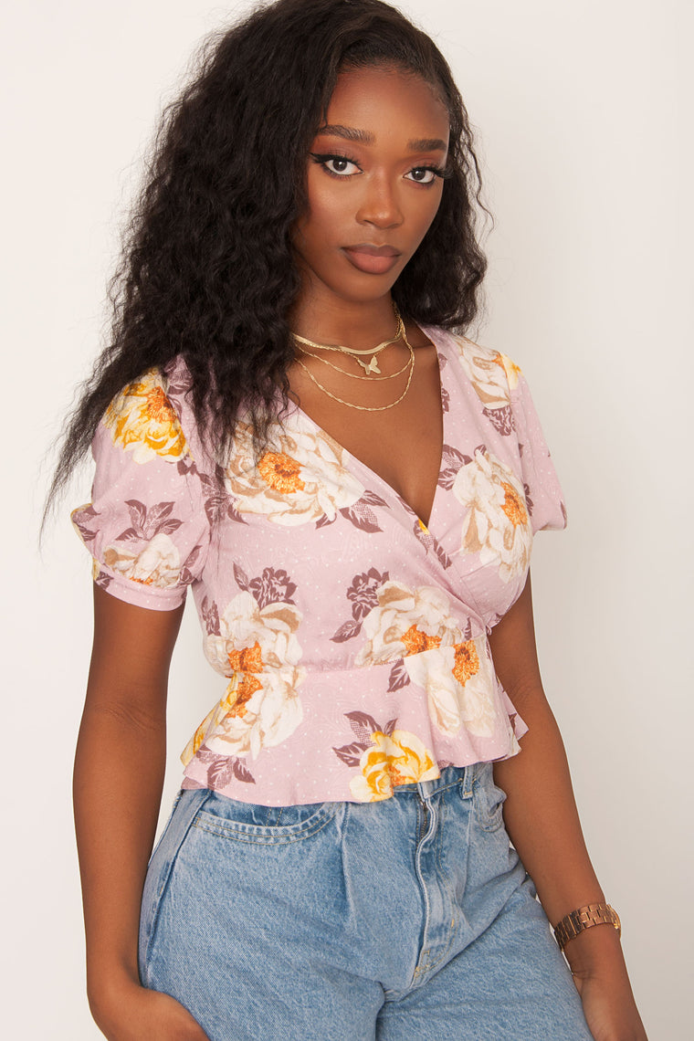 Peony Floral Top