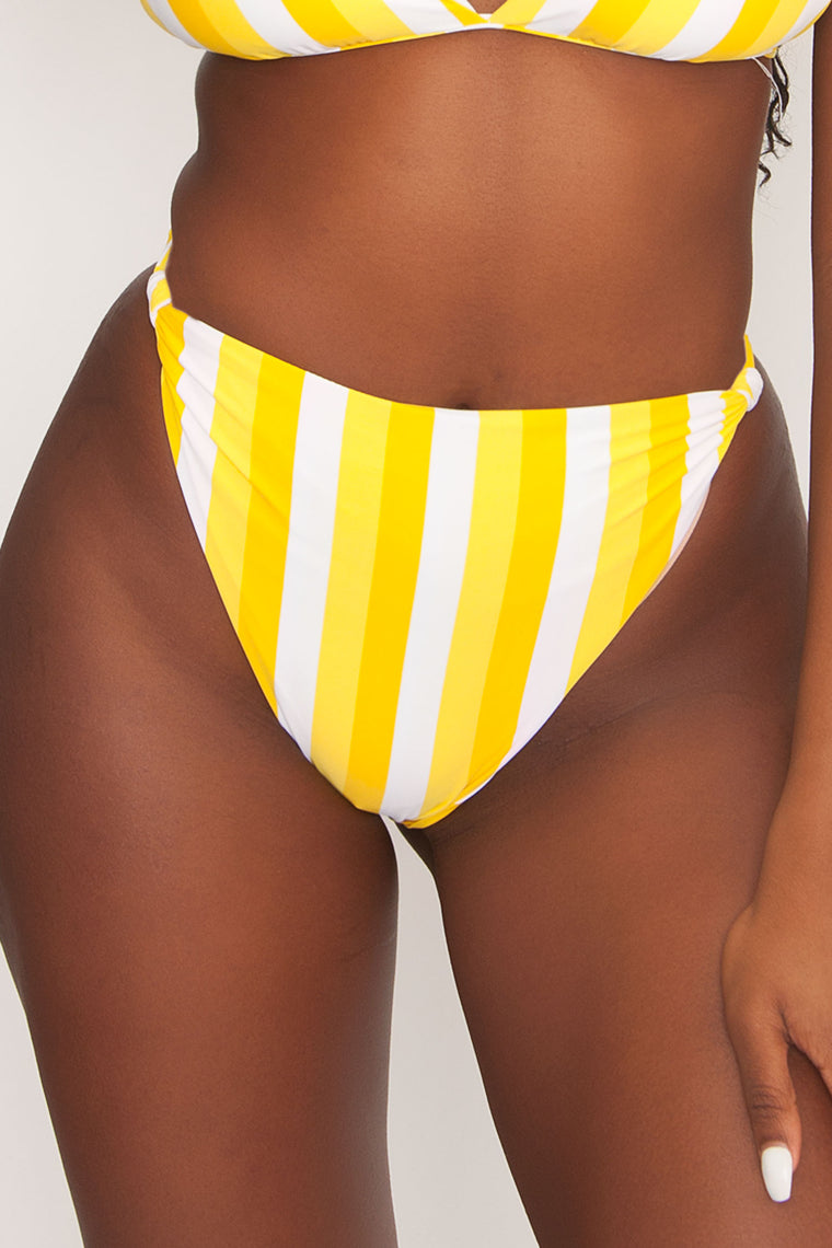 Divine Swim Bottom - Banana Beach Stripe