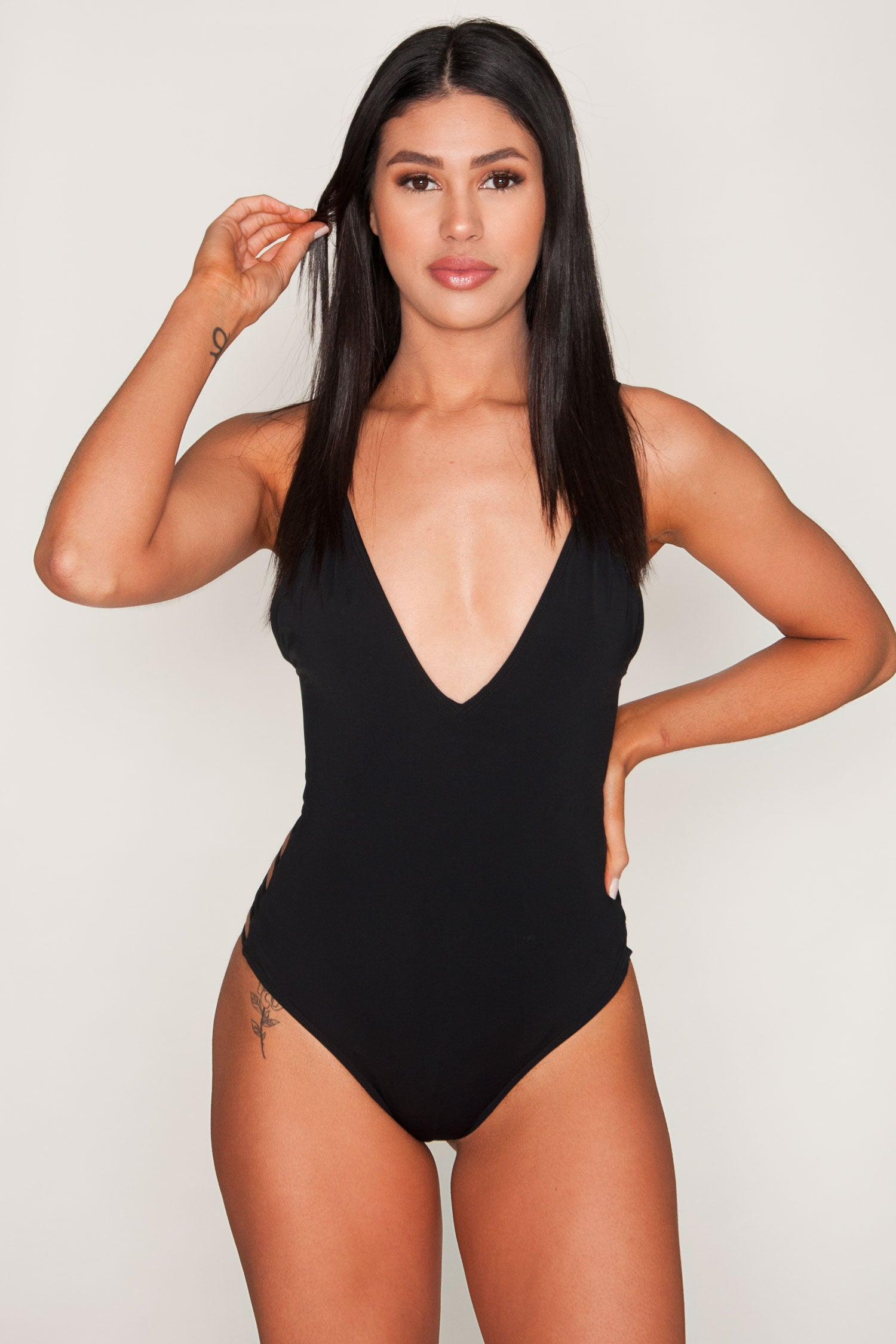 Luzon Black Strappy One Piece