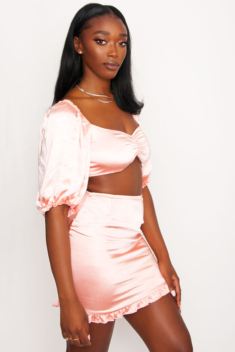 Motel Mirella Top - Satin Peach