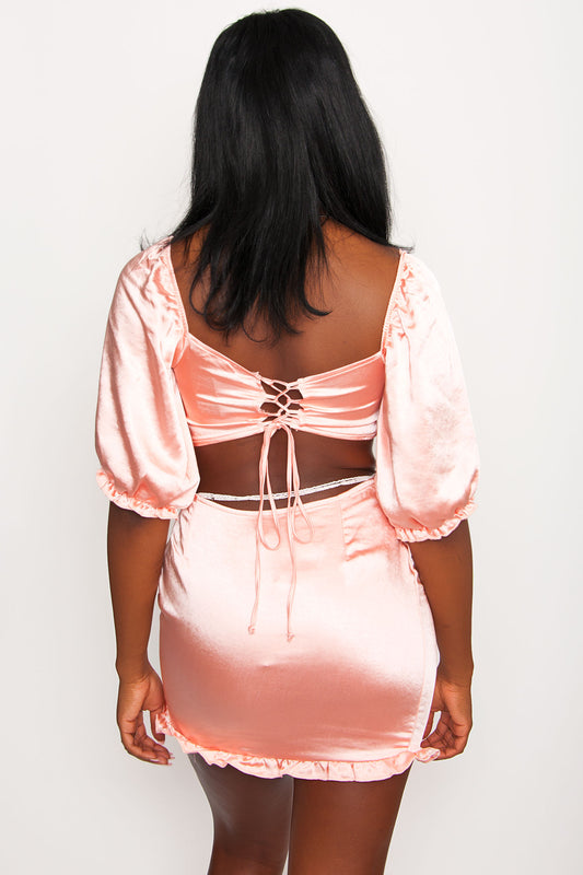 Motel Tega Skirt - Peach
