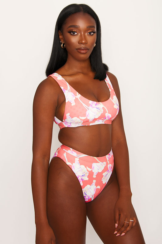 Festival Swim Top - Tulips
