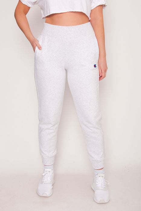 Champion High Waist Joggers - Silver Grey