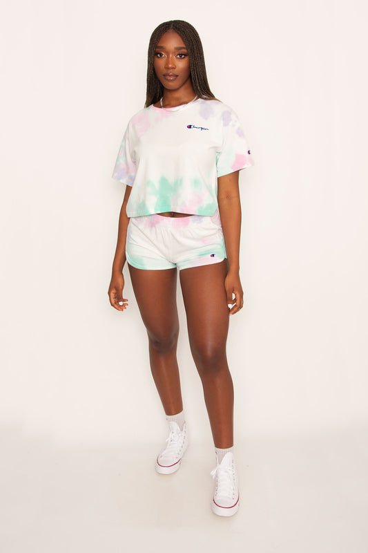 Champion Cropped Tee - Cloud Dye Ice Cake