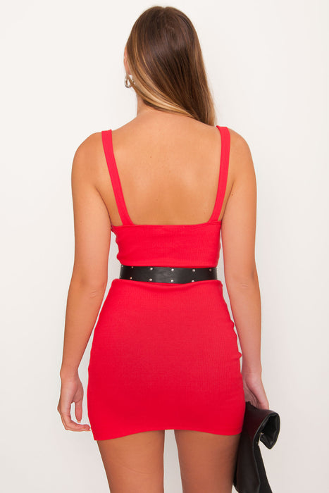 Tiger Mist Nashville Dress - Red