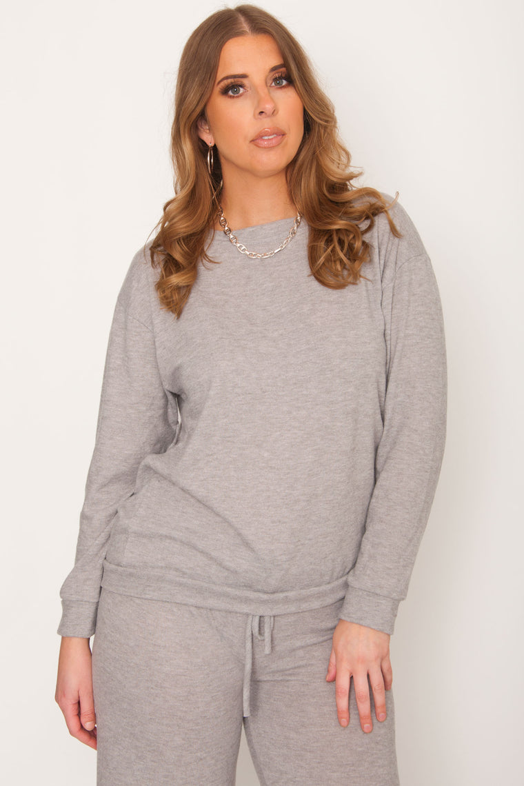 Camila Lounge Wear Set - Heather Grey