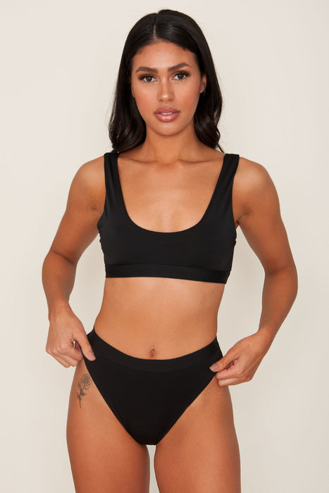 Moana Black Swim Top